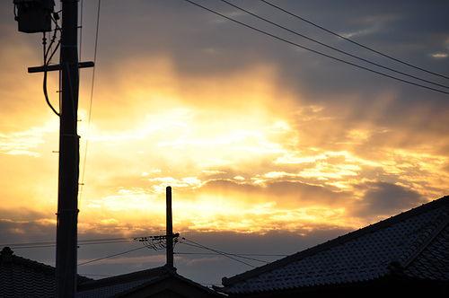次の目的地、小布施に着く頃には日が暮れつつあった。