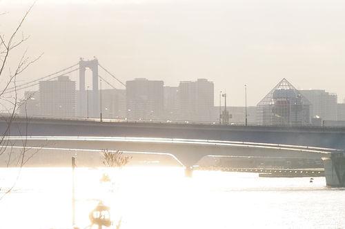 今日の一枚「金色の東京湾」