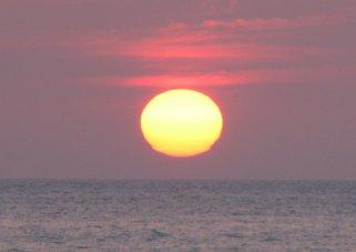 黄金崎の落陽